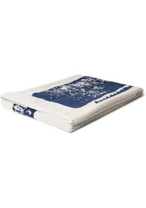 Mollusk - Olde Whale Printed Cotton-blend Terry Towel - Navy