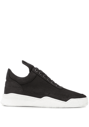 Filling Pieces perforated sneakers - Black
