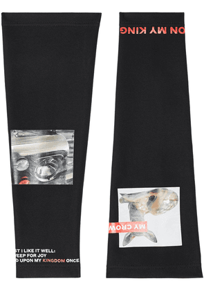 Burberry Montage Print Stretch Jersey Sleeves - Black