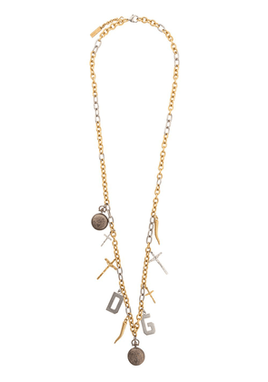 Dolce & Gabbana multi charm necklace - Silver