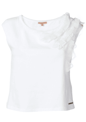 Ermanno Scervino ruffle trim T-shirt - White