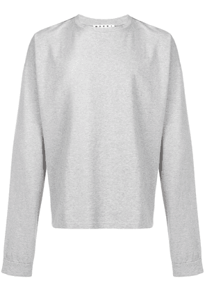 Marni arm print T-shirt - Grey