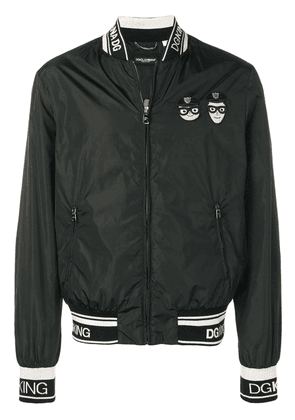 Dolce & Gabbana patch bomber jacket - Black