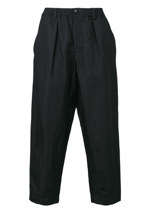 Marni checked tapered trousers - Blue