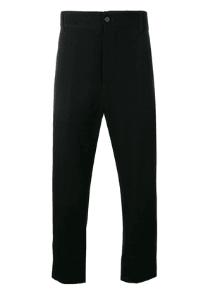 Ann Demeulemeester high-waisted tapered trousers - Black