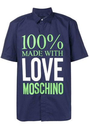 Love Moschino '100% Made With Love' shirt - Blue