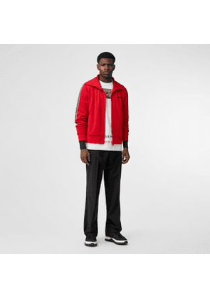 Burberry Icon Stripe Detail Funnel Neck Track Top, Red