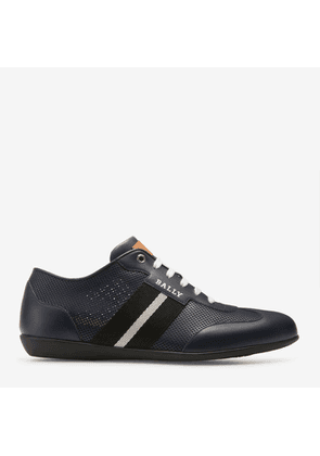 Bally Harlam Blue, Men's calf leather trainer in ink