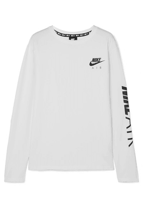 Nike - Air Printed Cotton-blend Jersey Top - White