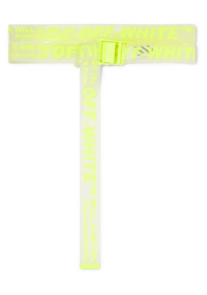 Off-White - Neon Printed Pvc Belt - Yellow