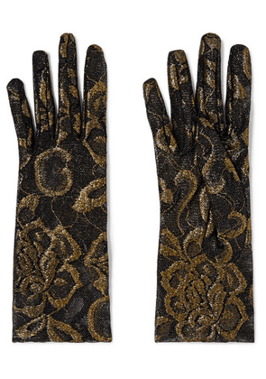 Gucci - Embroidered Tulle Gloves - Black