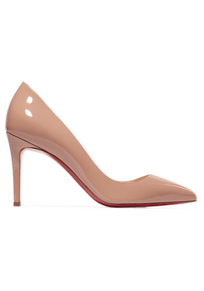 Christian Louboutin - Pigalle Follies 85 Patent-leather Pumps - Beige