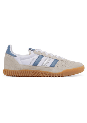 adidas Originals - Indoor Super Suede, Leather And Canvas Sneakers - White