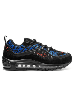 Nike - Air Max 98 Calf Hair-trimmed Mesh, Faux Leather And Suede Sneakers - Leopard print