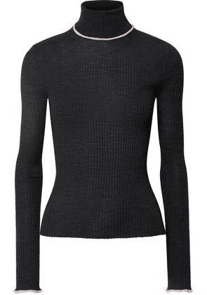 Acne Studios - Ribbed Merino Wool Turtleneck Sweater - Dark gray