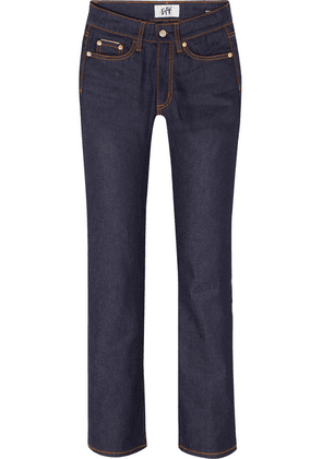 Eytys - Cypress Raw Cropped High-rise Straight-leg Jeans - Dark denim