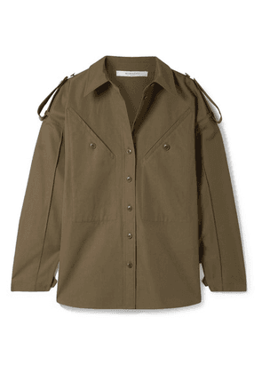 Givenchy - Oversized Cotton-canvas Shirt - Army green