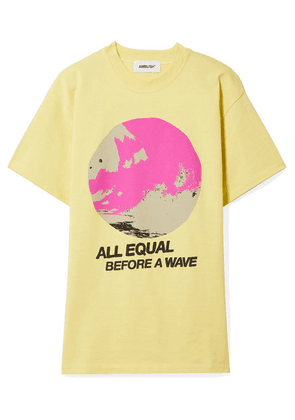 AMBUSH® - All Equal Printed Cotton-jersey T-shirt - Yellow