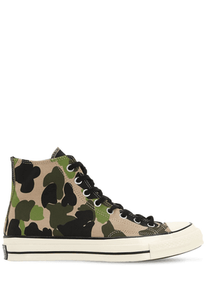 Chuck 70 Camo Canvas High Top Sneakers