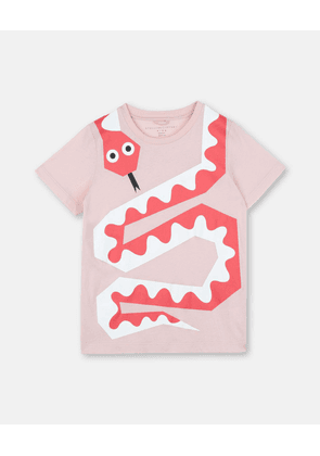 Stella McCartney Kids Pink Snake Print T-shirt, Women's, Size 2