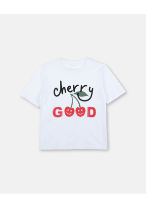 Stella McCartney Kids White Cherry Good Print T-shirt, Women's, Size 2
