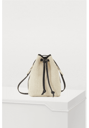Bucket bag with rings