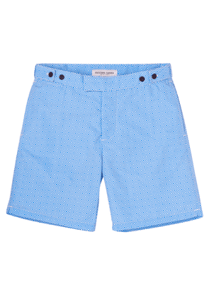 Blue Polyamide Long Tailored Angra Trunks