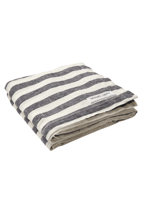 Blue and White Linen Stripe Towel