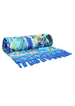 Camilla Woman Printed Cotton-terry Beach Towel Blue Size ONESIZE