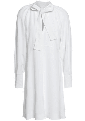 See By Chloé Woman Pussy-bow Crepe Mini Dress White Size 38