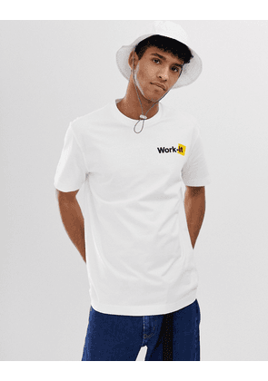 Billy Work-it t-shirt in white
