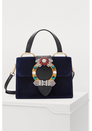 Miu Lady velvet top handle bag