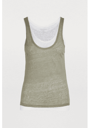 Linen double layer tank top