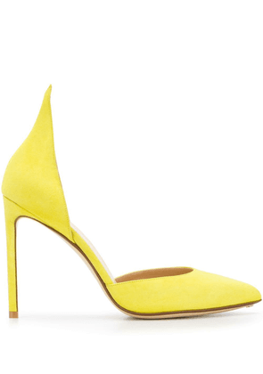 Francesco Russo D'orsay pointed pumps - Yellow