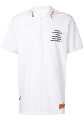Heron Preston graphic print polo T-shirt - White