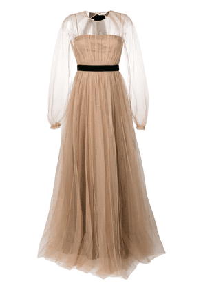 No21 tulle layered gown - Neutrals