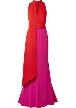 Brandon Maxwell - Color-block Crepe Gown - Red
