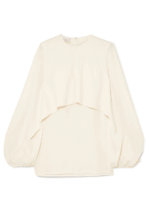 Valentino - Cape-effect Silk-crepe Blouse - Ivory