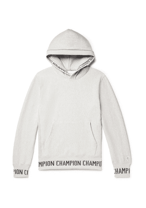 Todd Snyder + Champion - Logo-jacquard Loopback Cotton-jersey Hoodie - Gray