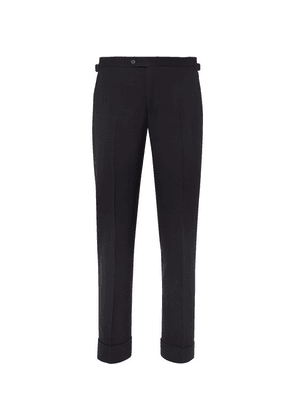 P. Johnson - Navy Slim-fit Ribbed Wool-blend Suit Trousers - Navy