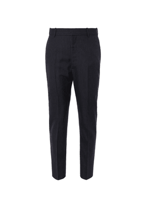 Alexander McQueen - Navy Slim-fit Pinstriped Wool Suit Trousers - Navy