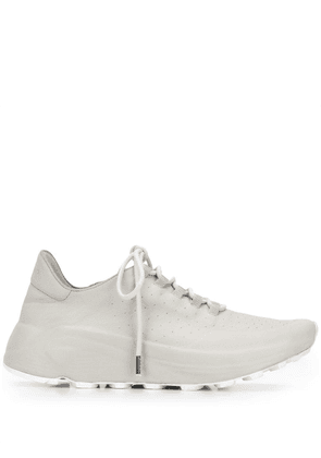 Del Carlo perforated lace-up sneakers - Grey