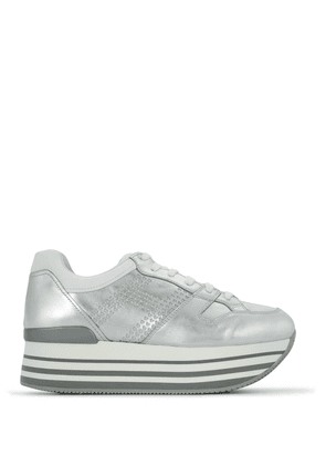 Hogan platform lace-up sneakers - Metallic