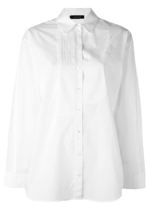 Cédric Charlier pleated detail shirt - White
