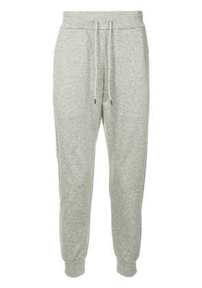 Attachment drawstring-waist track pants - Grey