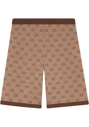 Gucci GG jacquard knit shorts - Neutrals
