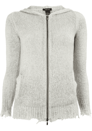 Avant Toi distressed knitted jacket - Grey