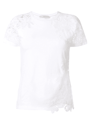 Ermanno Scervino lace appliqué T-shirt - White