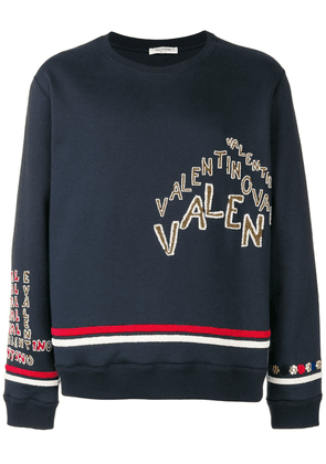 Valentino beaded logo sweatshirt - Blue