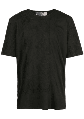 By Walid lace insert T-shirt - Black